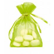 Lot de 10 sacs en organdi vert