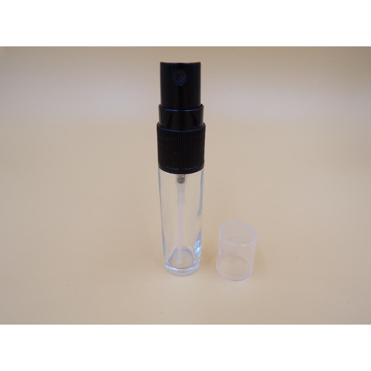 Mini spray verre clair bouchon noir 10ml