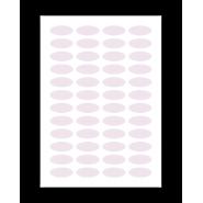 5 planches de 32 étiquettes ovales