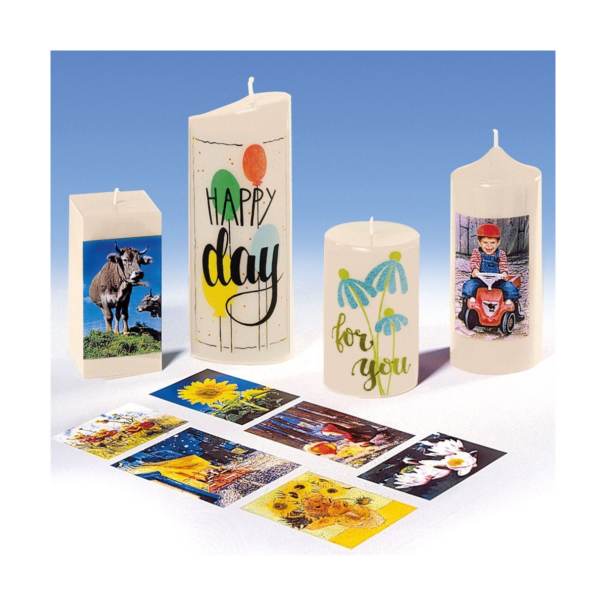 Papier de transfert de photos pour bougies