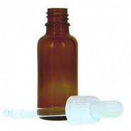 Flacon vide en verre 30 ml avec pipette