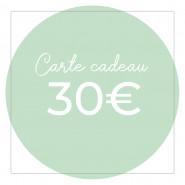 Carte cadeau 30€ - Version numérique