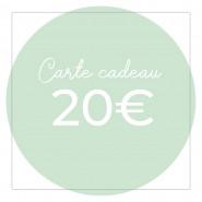 Carte cadeau 20€ - Version numérique