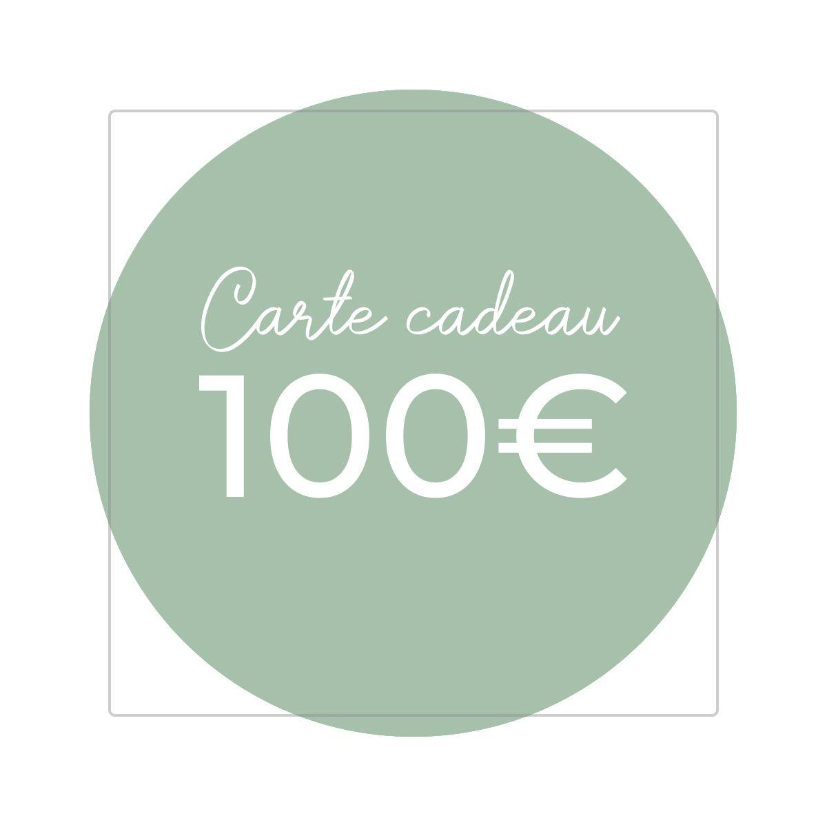 Carte cadeau 100€ - Version numérique