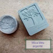 Mica Bleu argenté